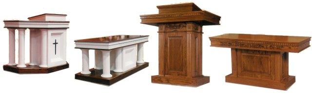 Custom Wood Pulpit Furniture